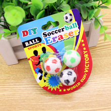 3d The World Cup football erasers Cute cartoo football Shape Rubber Eraser School Student Children's Prizes Gift Toy 5003(China)