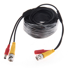 30m/100ft CCTV Camera DVR Video DC Power Cable Security Surveillance BNC RCA Cable Wire Accessory