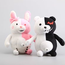 "Anime Danganronpa Monokuma Bear Soft Dolls Plush Toy Black& Pink Peluche Cartoon Figure Toy Kids Gifts 10"" 25 CM"