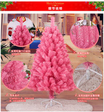 1.2 m/120cm Encryption Environmentally Friendly Material PVC Pink Christmas Tree Decorated New Year Supplies Mall Hotel(China)