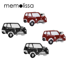 Memolissa Classic Cars Design Red Black Bus Shape Cufflinks For Mens Womens Shirt Wedding Gift Cufflink Gift for Party(China)