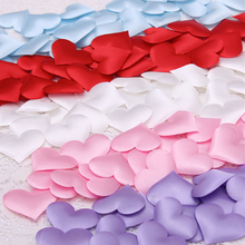 2cm 100pcs/pack  Sponge Heart-Shaped Petals Confetti for Wedding Decoration Red/White/Pink/Purple/Blue/Rose