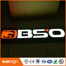 Resin led channel letter signs, led epoxy resin letter