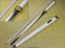 WuShu Sword Chinese KungFu Martial Art Dao Sword White Handle & Scabbard Full Tang(China)