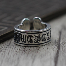 Thai Silver Personalized Sanskrit Ring Ring Men And Women Letter Ring S925 Sterling Silver Jewelry(China)