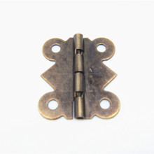 50pcs 25 * 20MM Antique wooden box gift packaging accessories butterfly small hinge furniture corner cabinets