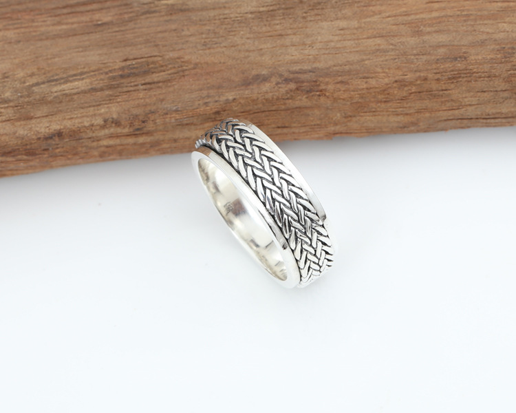 925 Sterling Silver Rope Ring