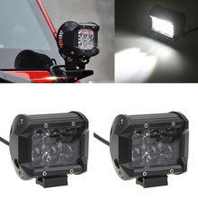 1 Pair 30W LED Work Light Bar Flood Beam Waterproof Off-road Truck Car ATV SUV Boat ATV Auxiliary Driving Light Fog Lamp