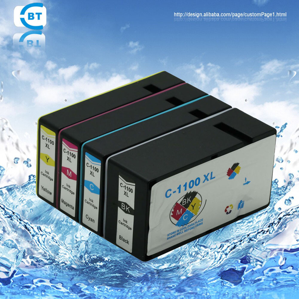 4 color 1set  pgi-1100 ink cartridge for  canon MAXIFY MB2010 printer<br><br>Aliexpress