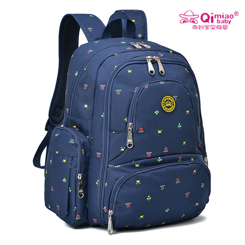 Qimiao 6colors Large Capacity Maternity Dot Backpack Nappy Diaper Backpacks Travel Multifunctional Mother Mummy Mom Baby Bags<br>