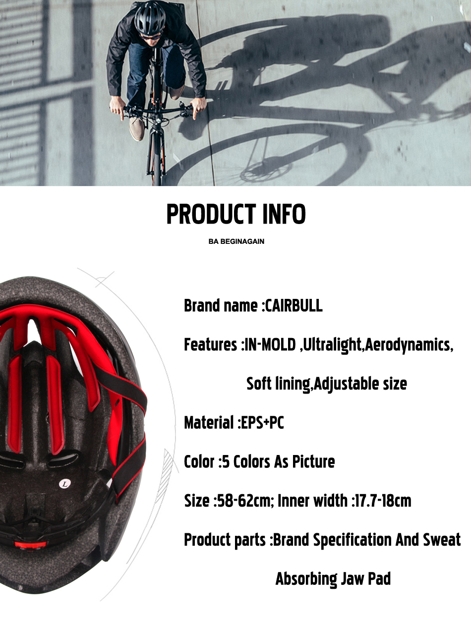 2019 Cairbull Bicycle Helmet For Men Ultralight Eps Pc Cover Mtb