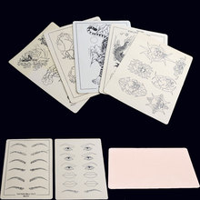 2 pcs Eyebrow Lips Tattoo Practice Skins Synthetic Flexible Fake Skin Sheet Body Art Designs Accesories