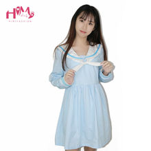 Hot Sales Harajuku Style Sailor Collar Candy Color Dress For Girls Cute Cat Ears Bow Lolita Dress 2017 New Fashion Brand  Dress