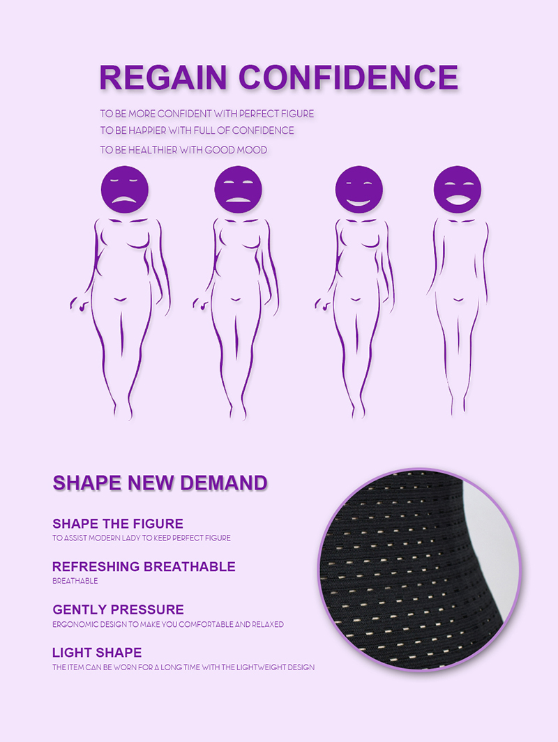 S-6XL Hot Body Shapers Steel Bones Latex Waist Trainer Women High Waist Cincher Trainer Corset Underbust Slimming Belt Shaper 7