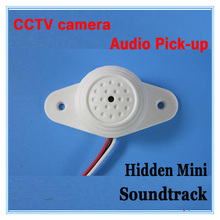Mini AUDIO CCTV Microphone MIC For Security DVR Cameras No Noise Audio Monitor , Sound pickup Head
