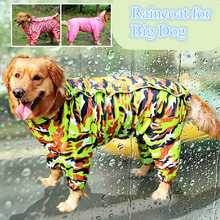 Dogs Raincoat Big Dog Clothes for Dogs Costume Waterproof Overalls Goods for Pets Poncho Rain Umbrella Coats CW024(China)