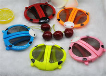 Round polarized 3D glasses foldable Cute lovely animal cartoon beetle style children 3D glasses cinema good for kids