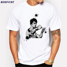 2018 Men T Shirt New 2017 Summer Fashion Bruce Lee Design T Shirt Men's High Quality Plus Size 3D Print Tops Hipster Top Tees(China)