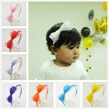 1pc Cute Grosgrain Ribbon Bowknot Girl Hairband Kids Silk Hair Bow Headband Headwear Sweet Hair band Hair Accessories
