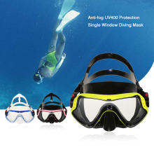 Men Women Anti-fog UV400 Protection Diving Mask Snorkeling Mask Scuba Swimming Mask Goggle Tempered Glass Lens Flexible Silicone(China)