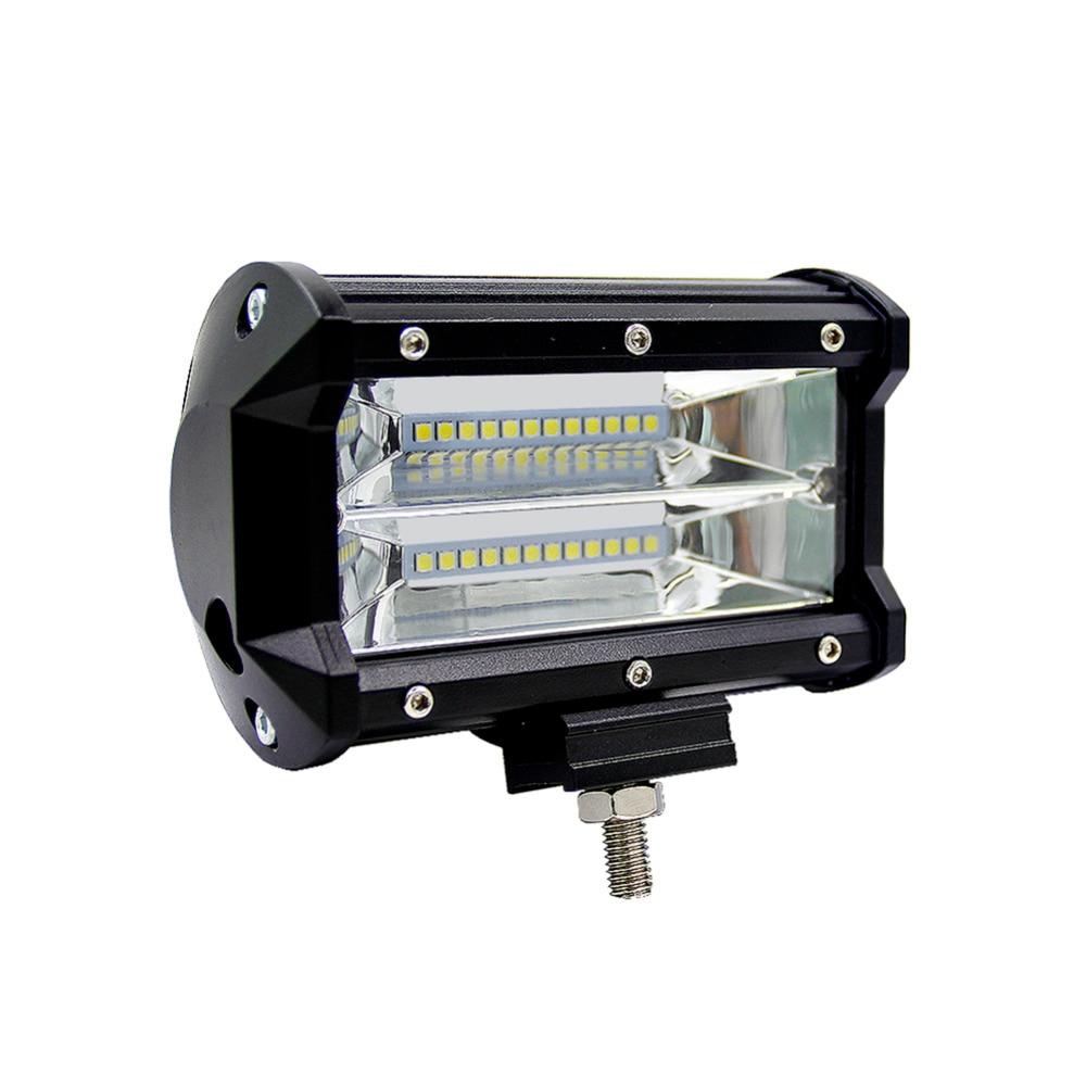 Car Offroad 5 72W LED Light Bar Triple Row Spot Beam Work Light Waterproof Driving Headlight For jeep Off road Truck ATV SUV<br>