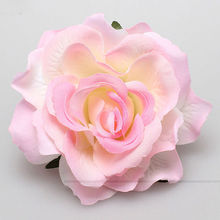New Beautiful Rose Flocking Cloth Red Flower Hair Clip Hairpin DIY Headdress Hair Accessories For Bridal Wedding