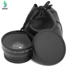 Hot Sale HD 0.45x 52mm Super Wide Angle Lens with Macro Lens and Carry Bag For Nikon D800, D3200, D3100, D5100,D7000