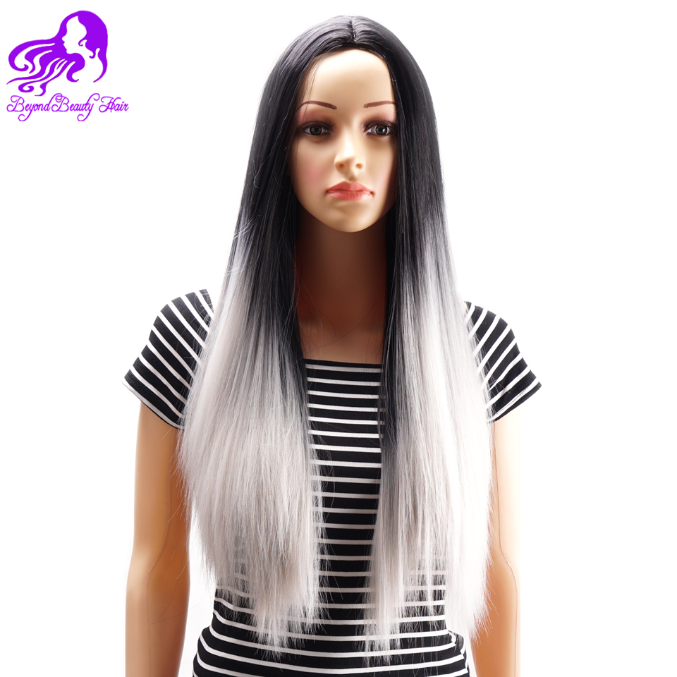 Cheap Synthetic African American Gray Wigs For Black Women Grey Heat Resistant Synthetic Womens Wigs Long Straight OMbre Ash Wig<br><br>Aliexpress