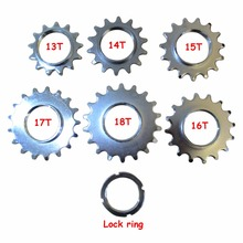1 Speed Fixie Bicycle Track Sprocket Freewheel Fixed Gear Single Speed Bike Cog Threaded Lock Rings 13T 14T 15T 16T 17T 18T