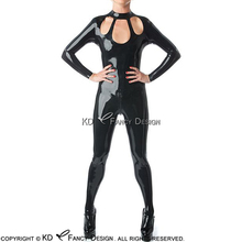 Buy Black Sexy Latex Catsuit Open Three Holes Front Back Crotch Zip Rubber Body Suit Catsuit Bodysuit Zentai Overall LTY-0114