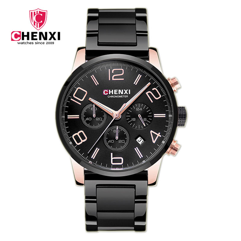 CHENXI 2017 Business Men Watch Full Stainless Steel Chrono Luxury Antique Man Casual Watch Wateproof Sport Quartz Wristwatch<br><br>Aliexpress