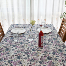 2017 New Spring American Style Flora Print Linen TableCloth High Quality Tablecloth Table Cover manteles para mesa Free Shipping(China)