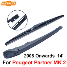 QEEPEI Rear Windscreen Wiper and Arm For Peugeot Partner MK 2 2008 Onwards 14'' 4/5 door Panel van High Quality Natural Rubber(China)