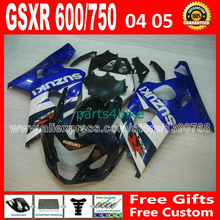 High grade for white black blue SUZUKI GSXR 600 750 fairing kit K4  2004 2005 gsxr600 04 05 CYK gsxr750 fairings kits  594
