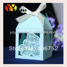 hot sale new design customized flower pearl paper laser fashionable and cheap wedding favor box wholesale