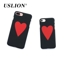 Buy USLION Fashion Love Heart Pattern Phone Case iPhone 7 5 5s SE 6 6s Plus Hard PC Back Cover Cases Coque iPhone 7Plus for $1.28 in AliExpress store