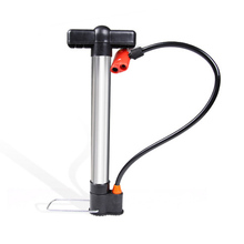 Aluminum Portable Pump for Bike Floor Tire Pump Air Bicycle Pump with Free Presta Schrader Valve Hose Bicycle Accessories(China)