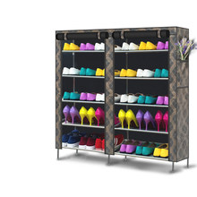 5 LayersX2 Nonwovens Double Row Shoe Cabinet DIY Assemble and install Shoe Rack