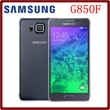 Original Unlocked Samsung Galaxy Alpha G850F 4.7``12.0MP Quad+Quad Core 32GB ROM 2GB RAM Touchscreen Smartphone Freeshipping