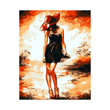 AZQSD Digital Oil Painting By Number Sexy Lady Art Home Decoration Wall Canvas Painting For Living Room No Frame szyh212(China)