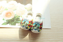 "2x2"" Netherlands Holland Wooden Shoes Tourist Souvenir 3D Fridge Magnet Handicraft White(China)"