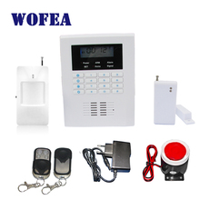 Free shipping LCD dispaly  home wireless GSM alarm system 850/900/1800/1900MHZ