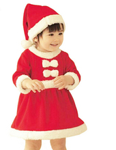 PPY-77,New 2016 baby boys girls red christmas clothes infant jumpsuit  children clothing sets baby rompers +Hat