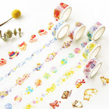 Buy 2-2.5cm*7m Cute cat dessert animal Beautiful washi tape children diy Diary decoration masking tape stationery scrapbook tools for $1.16 in AliExpress store