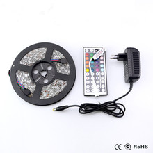 SMD 5050 RGB Led Strip Lamp DC 12V 2A 3A Adapter Power Supplier 24 44 key Controller IR Remote White / Warm String Light Decor(China)