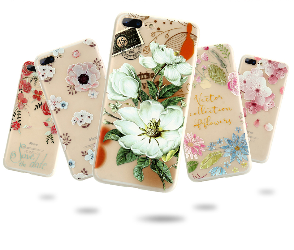 flower patterned case for iPhone 6 6s 7 Plus (13)