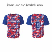 Red&Blue Baseball Jersey custom blank baseball jerseys for team wholesale throwback baseball jersey