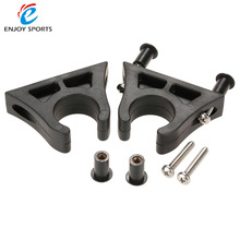 2016 Newest 2Pcs Rubber Boat Kayak Canoe Paddle Holder Keeper Mount Paddle Clips Well Nuts Black