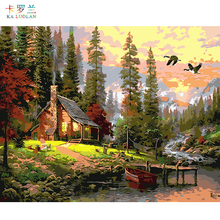 Wall Landscape Oil Painting By Numbers Home Cuadros Decoracion Pictures Canvas Oil Painting hand painted oil painting 40X50CM(China)