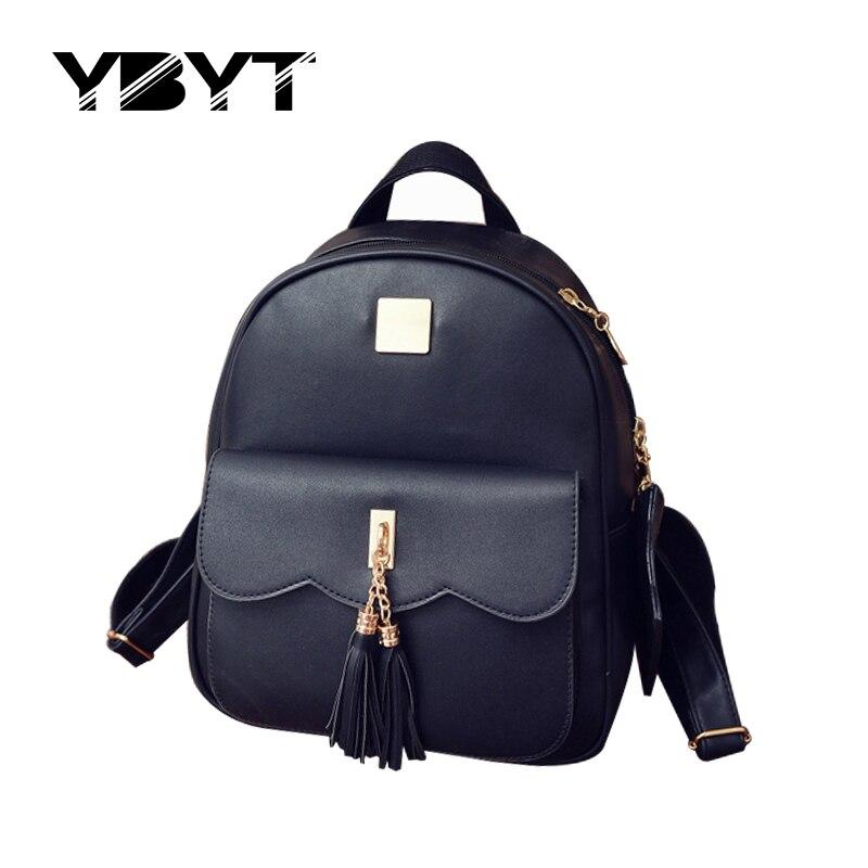 YBYT brand 2017 new preppy style tassel women rucksack ladies high quality stylish backpacks joker student school backpacks<br><br>Aliexpress